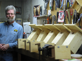 Steve with bluebird boxes